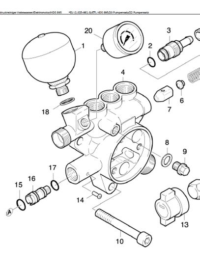 Kit de pi ces de rechange de pompe pour nettoyeur haute for Fonctionnement nettoyeur haute pression