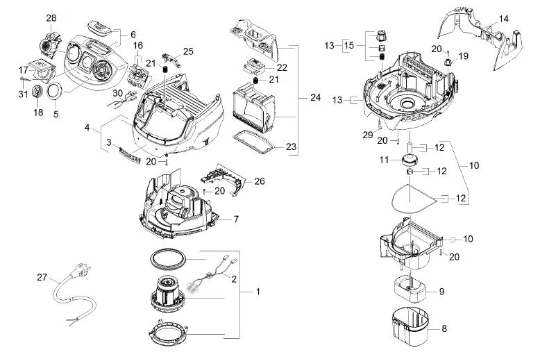 K rcher catalogue k rcher aspirateurs k rcher aspirateur eau et poussi res ka - Piece aspirateur karcher ...