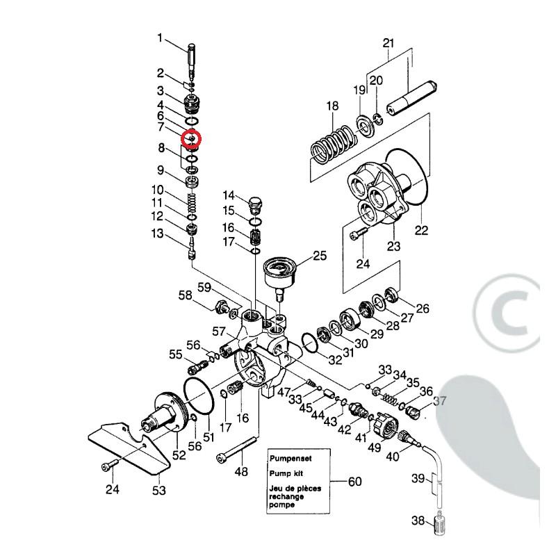 joint de pompe pour nettoyeur haute pression eau froide k rcher le sav ventes et commande de. Black Bedroom Furniture Sets. Home Design Ideas