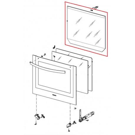 vitre de porte int rieure four lectronique encastrable h5140bp miele le sav ventes et. Black Bedroom Furniture Sets. Home Design Ideas