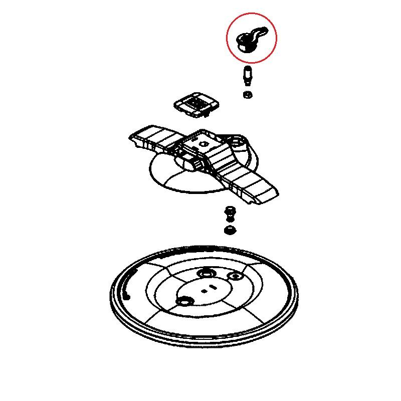 soupape de fonctionnement rouge pour autocuiseur clipso essential seb. Black Bedroom Furniture Sets. Home Design Ideas