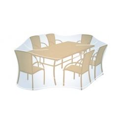 Housse de Protection Rectangulaire Taille L (100x280x200cm) pour Mobilier de Jardin Campingaz