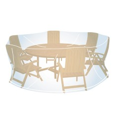 Housse de Protection Ronde Taille L (H100 x Ø 185cm) pour Mobilier de Jardin Campingaz