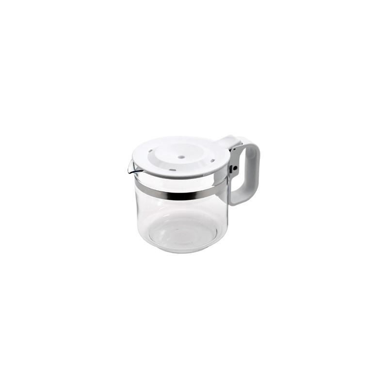 Bol / verseuse blanche 12 tasses en verre avec couvercle anti ...