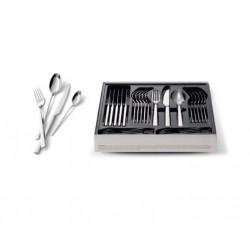 Ménagère de 24 pièces en INox 18/10 pour Ustensile de Cuisine Lagostina