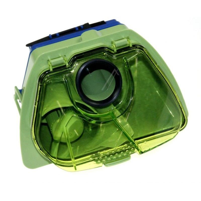 bac s parateur vert avec filtre hepa bleu pour aspirateur. Black Bedroom Furniture Sets. Home Design Ideas