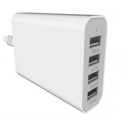 Chargeur Multi-Port USB avec 4 Prises USB Blanc