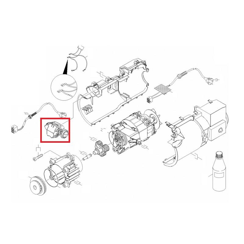 moteur complet 1 9kw pour nettoyeur haute pression k4 k5 k rcher. Black Bedroom Furniture Sets. Home Design Ideas
