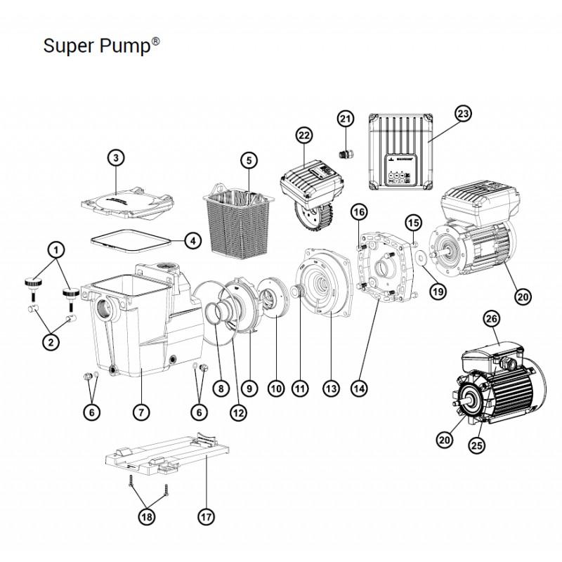 joint de corps pour pompe super pump hayward. Black Bedroom Furniture Sets. Home Design Ideas