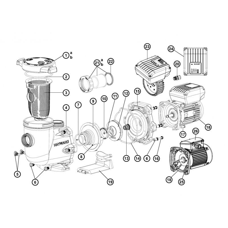 moteur 3 cv tri pour pompe tristar hayward