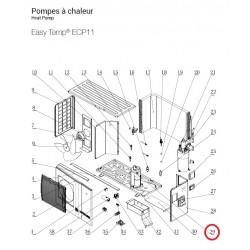 pompes chaleur easy temp ecp11 hayward le. Black Bedroom Furniture Sets. Home Design Ideas