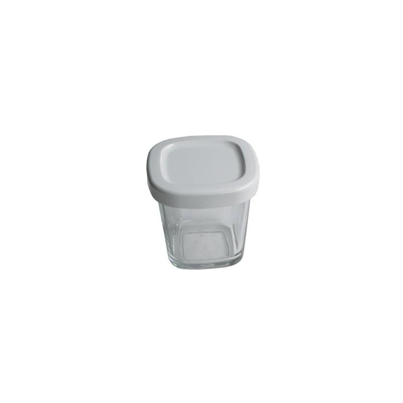 pot + couvercle blanc pour yaourtière multi / délices / compact
