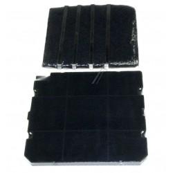 Kit filtre charbon cassette filtre mousse avec fixations - Hotte de cuisine avec filtre a charbon ...