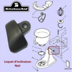 Loquet D'inclinaison Noir pour Robot Cuisine 5KSM90ECP Kitchenaid