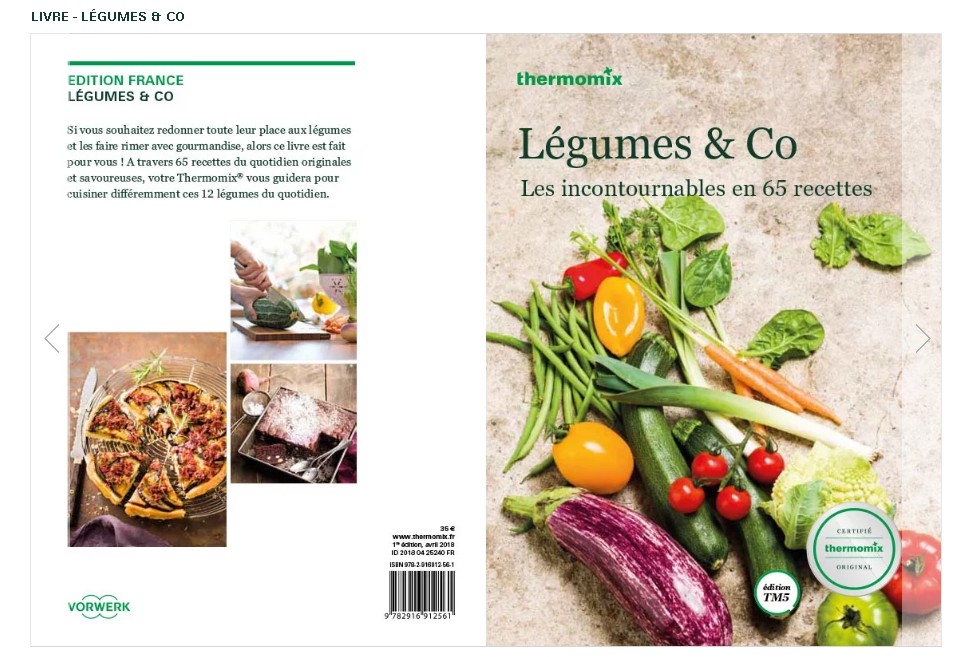 Livre Legumes Co Pour Thermomix Tm5 Vorwerk
