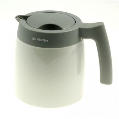 Verseuse Isotherme Blanc/Gris avec Couvercle à Visser 1L pour Cafetière KA4121 Severin