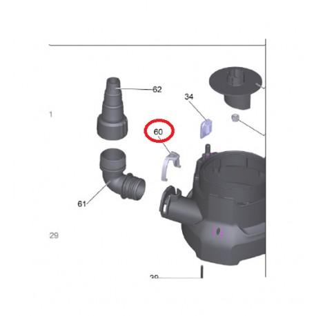 Bague de fixation pour pompe SP7 dirt inox