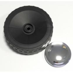 Roue Diamètre 160 (X 1) Avec Enjoliveur Chrome pour Plancha Campingaz