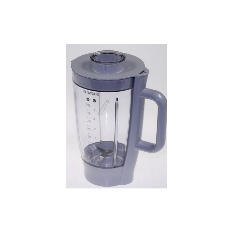 bol blender mixeur 1 5 litres gris pour robot kitchens. Black Bedroom Furniture Sets. Home Design Ideas