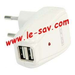 Adaptateur secteur / 2 X USB Konig
