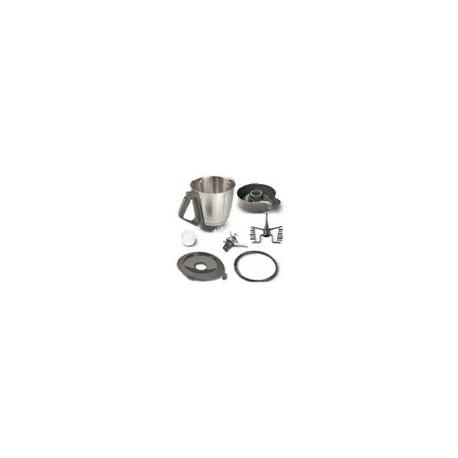 Bol Complet : Bol + Couteaux + Fouët + Socle + Gobelet + Couvercle avec Joint pour Vorwerk Thermomix TM 31