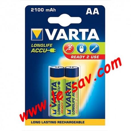 Accu Varta longlife AA / 2100mAh