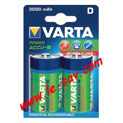 Accu Varta power D ( LR20 ) 3000mAh