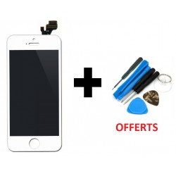 Vitre Avant + Écran LCD iPhone 4S Blanc + Outils de Montage