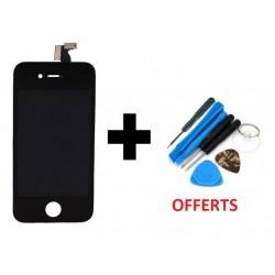 Vitre Avant + Écran LCD iPhone 4S Noir + Outils de Montage