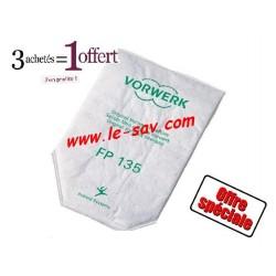 4x Packs de sacs filtres Vorwerk VK 135/136